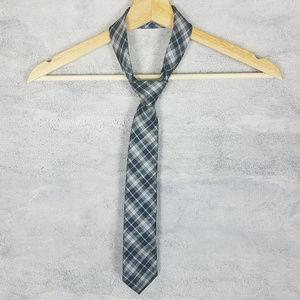 Chaps Accessories - Chaps Ralph Lauren Tie Slim Blue Black Tartan